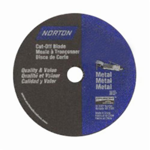 Norton® Metal® 07660747767 All Purpose Small Diameter Cut-Off Wheel, 3 in Dia x 1/16 in THK, 3/8 in Center Hole, 36 Grit, Aluminum Oxide Abrasive
