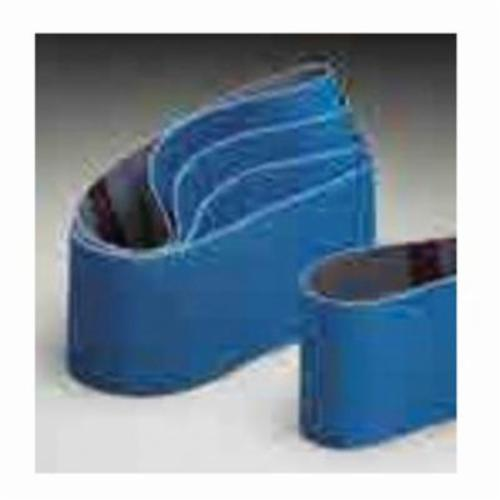 Norton® BlueFire® 07660749256 R831 Plyweld Portable Coated Abrasive Belt, 3 in W x 18 in L, 120 Grit, Medium Grade, Zirconia Alumina Abrasive, Cotton Backing