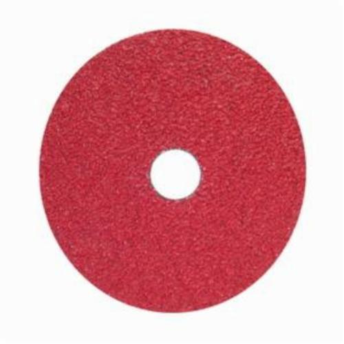 Norton® Red Heat® 77696008414 F981 Close Coated Heavy Duty Abrasive Disc, 5 in Dia, 7/8 in Center Hole, 60 Grit, Medium Grade, Ceramic Alumina Abrasive, Center Mount Attachment