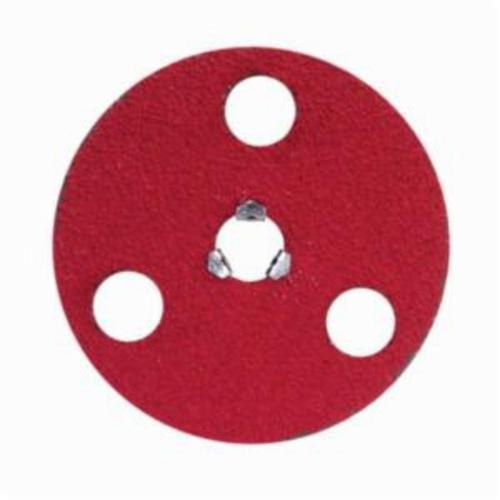 Norton® AVOS® Red Heat® Speed-Lok® 77696008460 F981S Heavy Duty Quick-Change Coated Abrasive Disc, 4-1/2 in Dia Disc, 5/8-11 Center Hole, 80 Grit, Medium Grade, Ceramic Alumina Abrasive, Speed-Lok Fastener Attachment