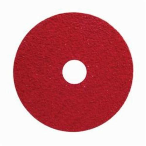Norton® Red Heat® 77696008470 F981S Close Coated Heavy Duty Abrasive Disc, 4-1/2 in Dia, 7/8 in Center Hole, 80 Grit, Medium Grade, Ceramic Alumina Abrasive, Center Mount Attachment