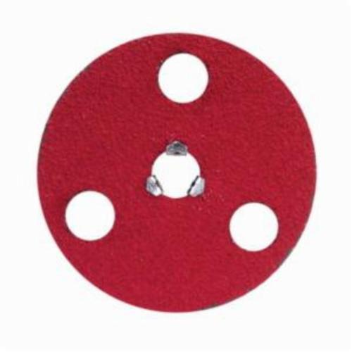 Norton® AVOS® Red Heat® Speed-Lok® 77696008475 F981S Heavy Duty Quick-Change Coated Abrasive Disc, 5 in Dia Disc, 5/8-11 Center Hole, 50 Grit, Coarse Grade, Ceramic Alumina Abrasive, Speed-Lok Fastener Attachment