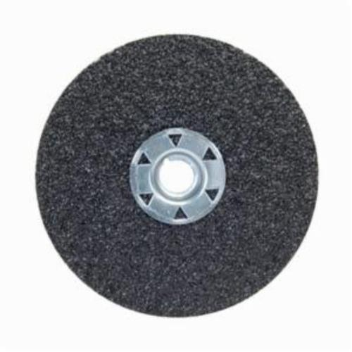 Norton® Neon® 77696009702 F726 Close Coated Heavy Duty Locking Abrasive Disc, 4-1/2 in Dia, 5/8-11 Center Hole, 24 Grit, Extra Coarse Grade, Aluminum Oxide/Ceramic Alumina Abrasive, Speed Change Fastener Attachment