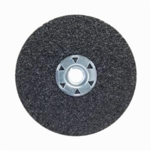 Norton® Neon® 77696009703 F726 Close Coated Heavy Duty Locking Abrasive Disc, 4-1/2 in Dia, 5/8-11 Center Hole, 36 Grit, Extra Coarse Grade, Aluminum Oxide/Ceramic Alumina Abrasive, Speed Change Fastener Attachment