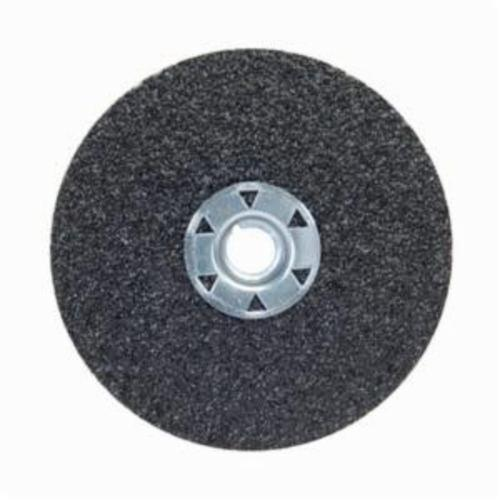 Norton® Neon® 77696009704 F726 Close Coated Heavy Duty Locking Abrasive Disc, 4-1/2 in Dia, 5/8-11 Center Hole, 50 Grit, Coarse Grade, Aluminum Oxide/Ceramic Alumina Abrasive, Speed Change Fastener Attachment