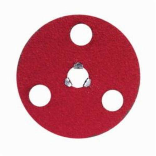 Norton® AVOS® Red Heat® Speed-Lok® 77696010002 F981S Heavy Duty Quick-Change Coated Abrasive Disc, 7 in Dia Disc, 5/8-11 Center Hole, 50 Grit, Coarse Grade, Ceramic Alumina Abrasive, Speed-Lok Fastener Attachment