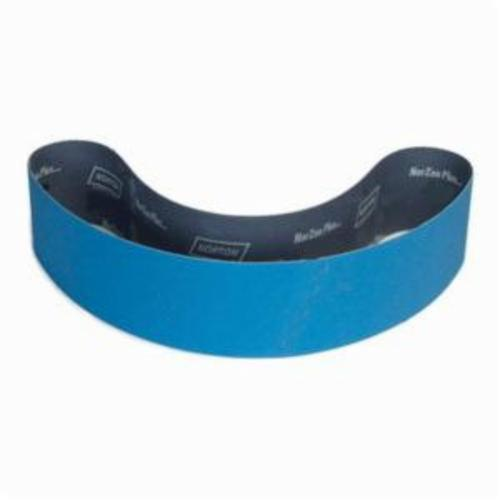 Norton® BlueFire® 78072700990 R823P Narrow Coated Abrasive Belt, 4 in W x 90 in L, 80 Grit, Medium Grade, Zirconia Alumina Abrasive, Polyester Backing