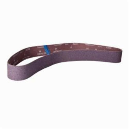 Norton® Metalite® 78072708296 R228 Narrow Coated Abrasive Belt, 2-1/2 in W x 60 in L, 24 Grit, Extra Coarse Grade, Aluminum Oxide Abrasive, Cotton Backing