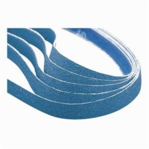 Norton® BlueFire® 78072728745 R823P File Coated Abrasive Belt, 1/2 in W x 12 in L, 60 Grit, Coarse Grade, Zirconia Alumina Abrasive, Polyester Backing