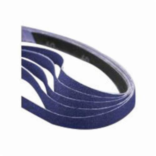 Norton® 78072718709 SG R981 File Coated Abrasive Belt, 1/2 in W x 24 in L, 80 Grit, Coarse Grade, Ceramic Alumina Abrasive, Polyester Backing