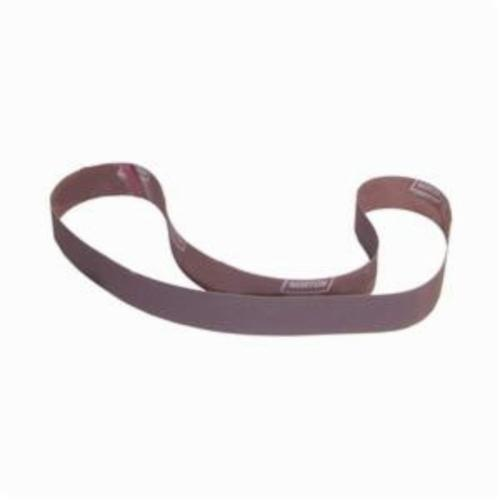 Norton® Metalite® 78072721335 R228 Narrow Coated Abrasive Belt, 2 in W x 72 in L, 36 Grit, Extra Coarse Grade, Aluminum Oxide Abrasive, Cotton Backing