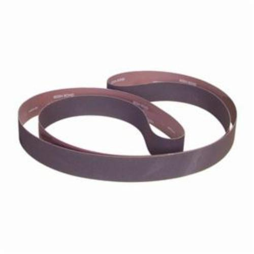 Norton® Metalite® 78072721880 R228 Narrow RR-Flex Coated Abrasive Belt, 3 in W x 132 in L, 80 Grit, Coarse Grade, Aluminum Oxide Abrasive, Cotton Backing