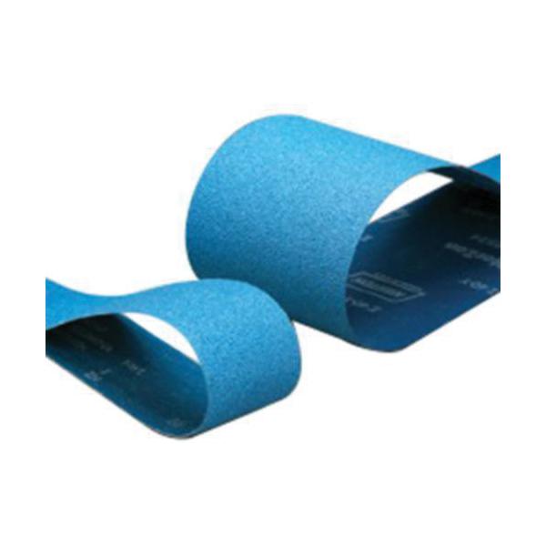 Norton® BlueFire® 78072721973 R801 Narrow Coated Abrasive Belt, 3 in W x 132 in L, 36 Grit, Extra Coarse Grade, Zirconia Alumina Abrasive, Polyester Backing