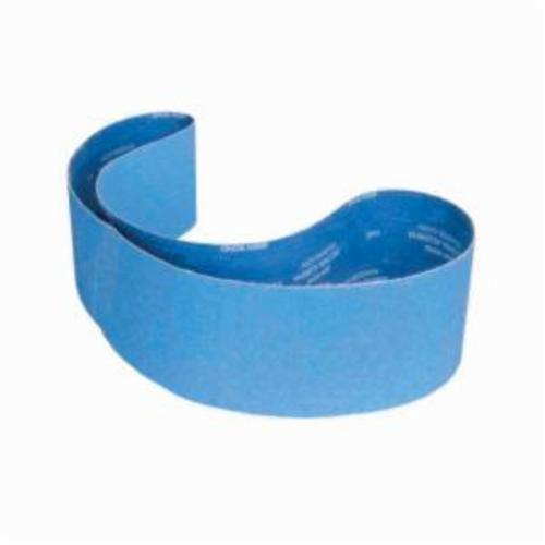 Norton® BlueFire® 78072725150 R884P Narrow Coated Abrasive Belt, 6 in W x 78-3/4 in L, 40 Grit, Extra Coarse Grade, Zirconia Alumina Abrasive, Polyester Backing