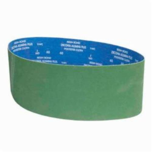 Norton® BlueFire® 78072727256 R801 Narrow Coated Abrasive Belt, 6 in W x 48 in L, 60 Grit, Coarse Grade, Zirconia Alumina Abrasive, Polyester Backing