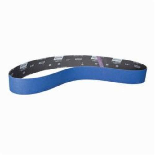 Norton® BlueFire® 78072728692 R823P Narrow Coated Abrasive Belt, 2-1/2 in W x 60 in L, 60 Grit, Coarse Grade, Zirconia Alumina Abrasive, Polyester Backing