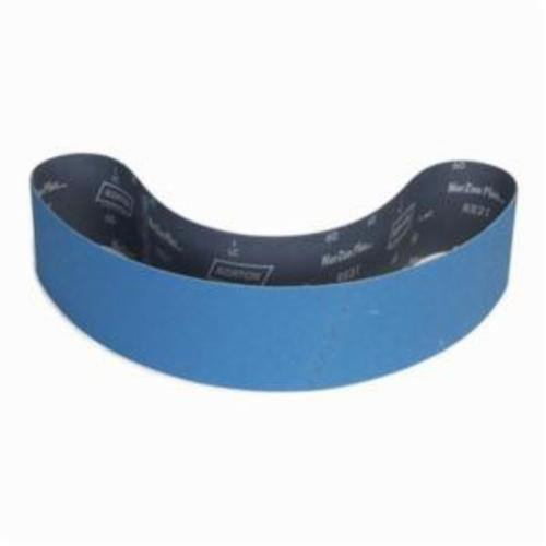 Norton® BlueFire® 78072737955 R884P Narrow Coated Abrasive Belt, 4 in W x 60 in L, 36 Grit, Extra Coarse Grade, Zirconia Alumina Abrasive, Polyester Backing
