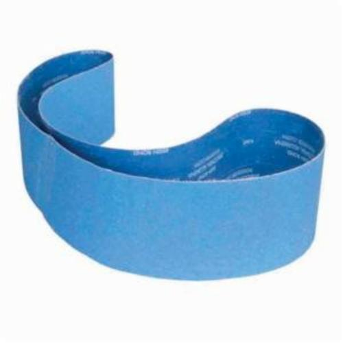Norton® BlueFire® 78072738097 R884P Narrow Coated Abrasive Belt, 6 in W x 78-3/4 in L, 36 Grit, Zirconia Alumina Abrasive, Polyester Backing