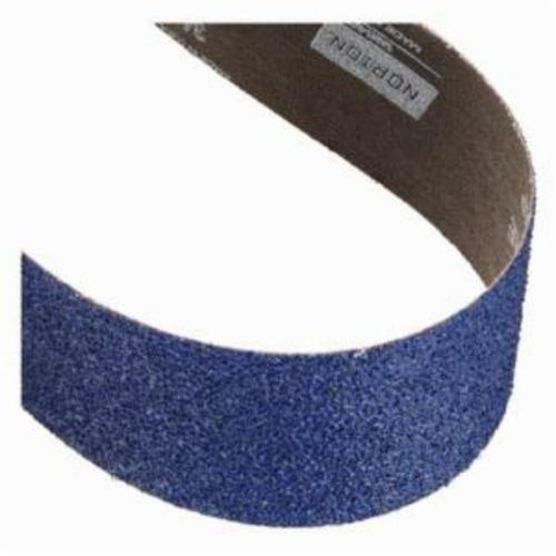 Norton® BlueFire® 78072750015 R884P Narrow Coated Abrasive Belt, 2 in W x 132 in L, 40 Grit, Extra Coarse Grade, Zirconia Alumina Abrasive, Polyester Backing