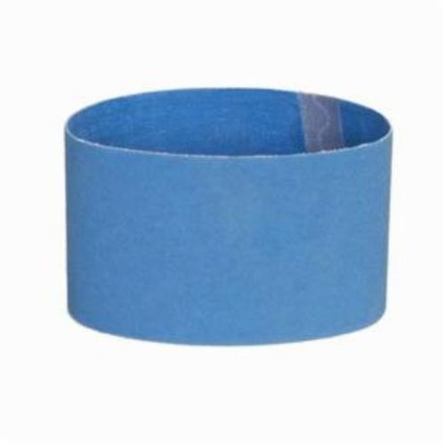Norton® BlueFire® 78072753074 R823P Plyweld Portable Coated Abrasive Belt, 3-1/2 in W x 15-1/2 in L, 80 Grit, Coarse Grade, Zirconia Alumina Abrasive, Polyester Backing