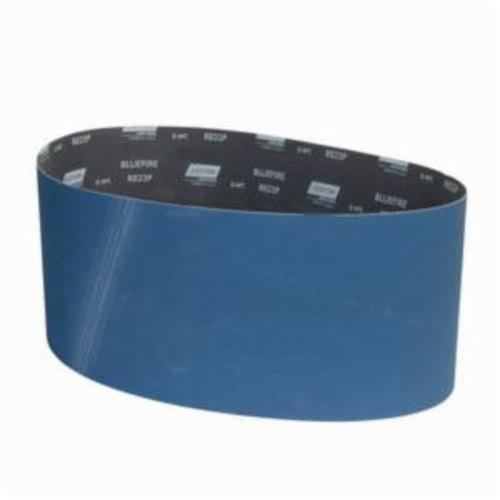 Norton® BlueFire® 78072762846 R823P Narrow Coated Abrasive Belt, 9 in W x 60 in L, 120 Grit, Zirconia Alumina Abrasive, Polyester Backing