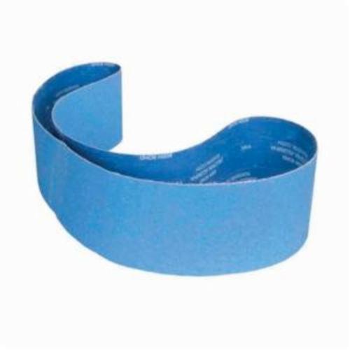 Norton® BlueFire® 78072764469 R823P Narrow Coated Abrasive Belt, 6 in W x 89 in L, 80 Grit, Coarse Grade, Zirconia Alumina Abrasive, Polyester Backing