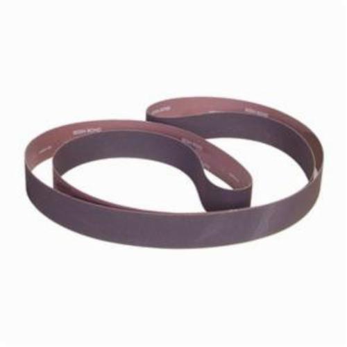 Norton® Metalite® 78072766210 R228 Narrow Coated Abrasive Belt, 4 in W x 90 in L, 80 Grit, Coarse Grade, Aluminum Oxide Abrasive, Cotton Backing