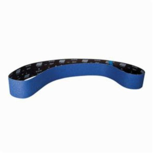 Norton® BlueFire® 78072779322 R884P Narrow Abrasive Belt, 6 in W x 79 in L, 80 Grit, Medium Grade, Zirconia Alumina Abrasive, Polyester Backing