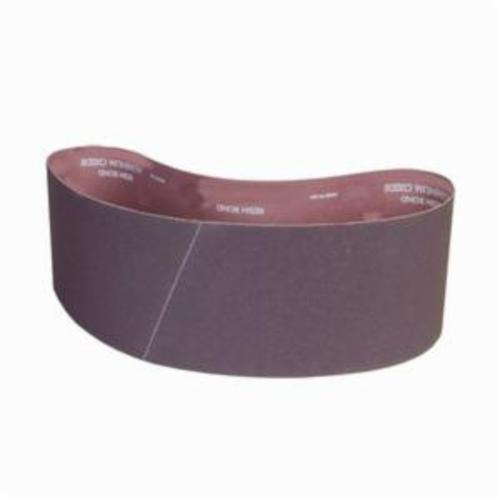 Norton® Metalite® 78072769216 R228 Narrow Coated Abrasive Belt, 4 in W x 48 in L, 100 Grit, Medium Grade, Aluminum Oxide Abrasive, Cotton Backing