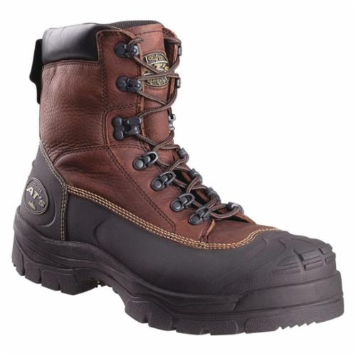 Oliver by Honeywell 65394-BRN-080 Non-Insulated Work Boots, Men's, SZ 8, 6 in H, Steel Toe, Leather Upper, Rubber Outsole, Resists: Chemical, Chainsaw Cut, Puncture, Liquid, Slip and Water, Specifications Met: ASTM F2413-11 M I/75 C/75 PR EH