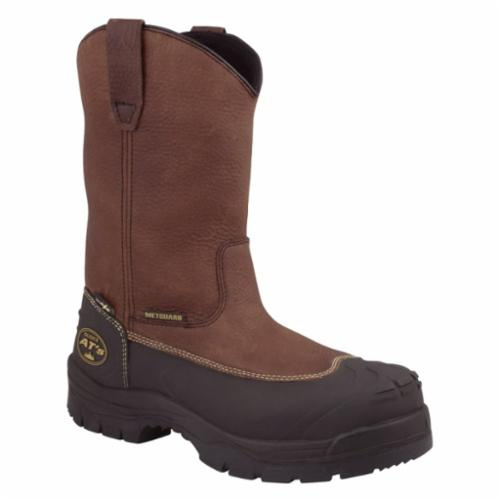 Oliver by Honeywell 65396-BRN-060 Non-Insulated Work Boots, Unisex, SZ 6, 10 in H, Steel Toe, SPR Leather Upper, Rubber Outsole, Resists: Abrasion, Cut, Slip and Water, ASTM F2413-11 M I/75 C/75 Mt/75 PR EH