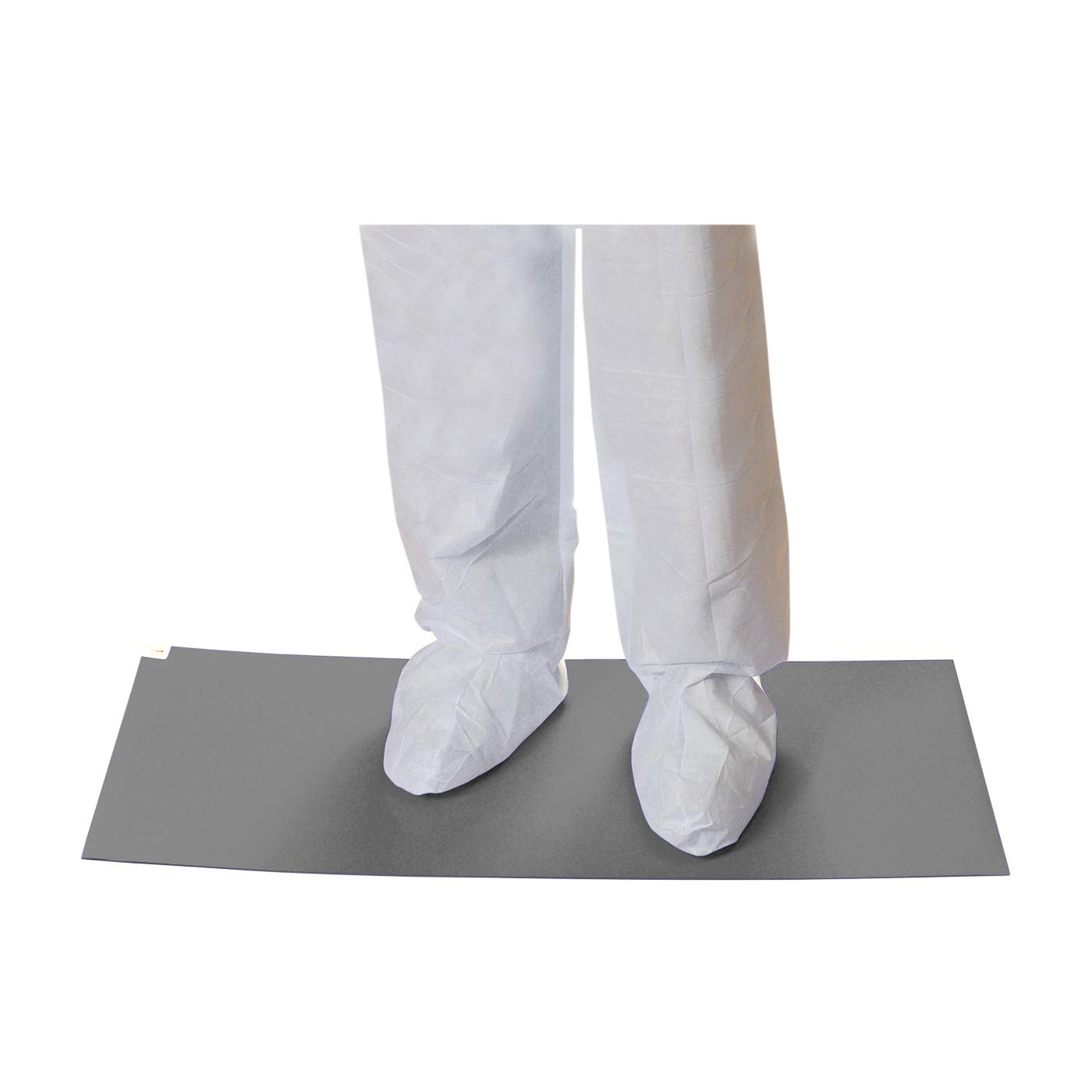 PIP® CleanTeam® 100-93-183638G Contamination Control Mat, 36 in L x 18 in W x 0.05 mm THK, Gray, Polyethylene
