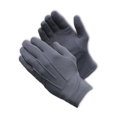 PIP® Cabaret™ 130-600GM Cabaret™ Mens Dress Gloves With Raised Stitching on Back, Nylon, Gray, Unlined Lining, Open Cuff