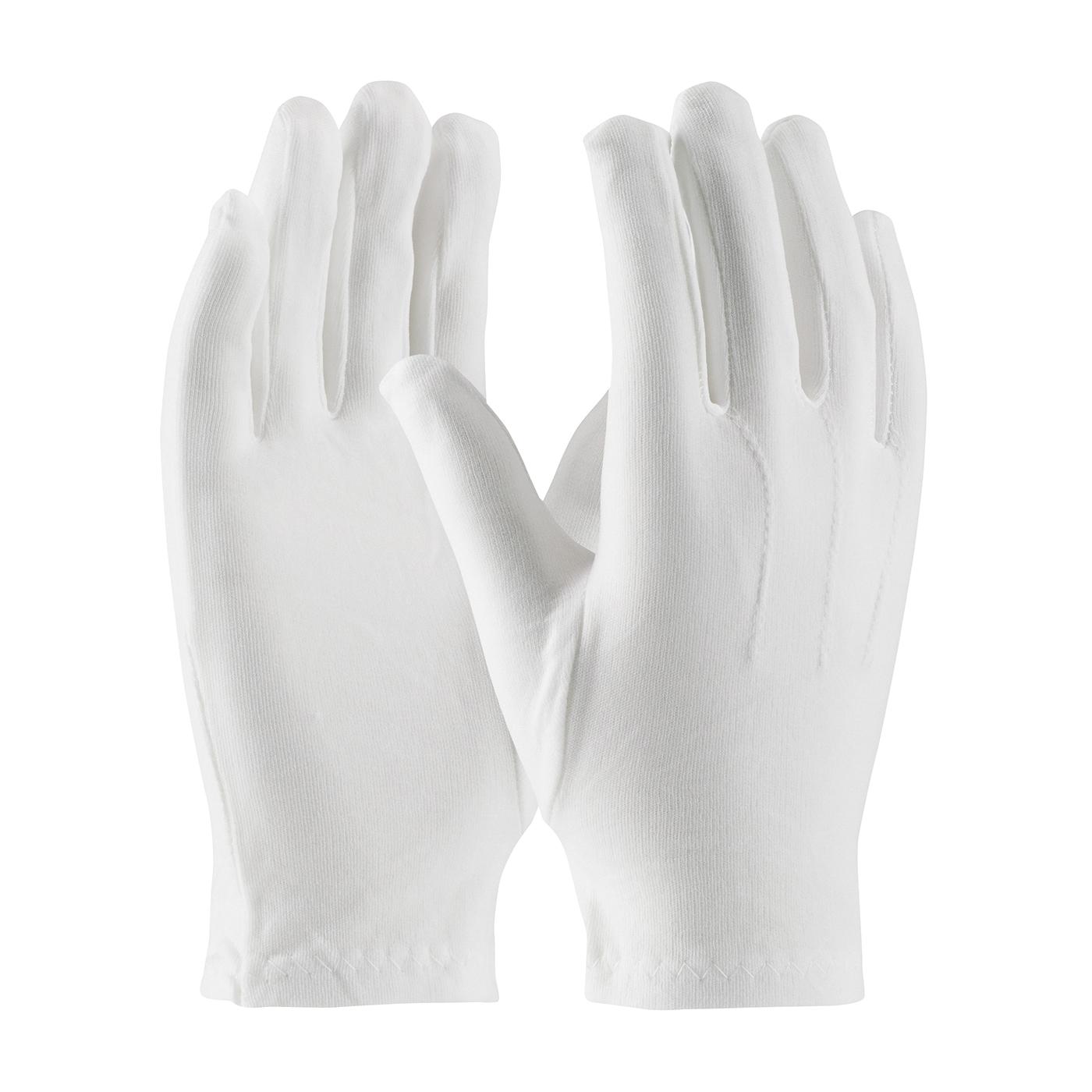 PIP® Cabaret™ 130-600WL Cabaret™ Ladies Dress Gloves With Raised Stitching on Back, Nylon, White, Unlined Lining, Open Cuff