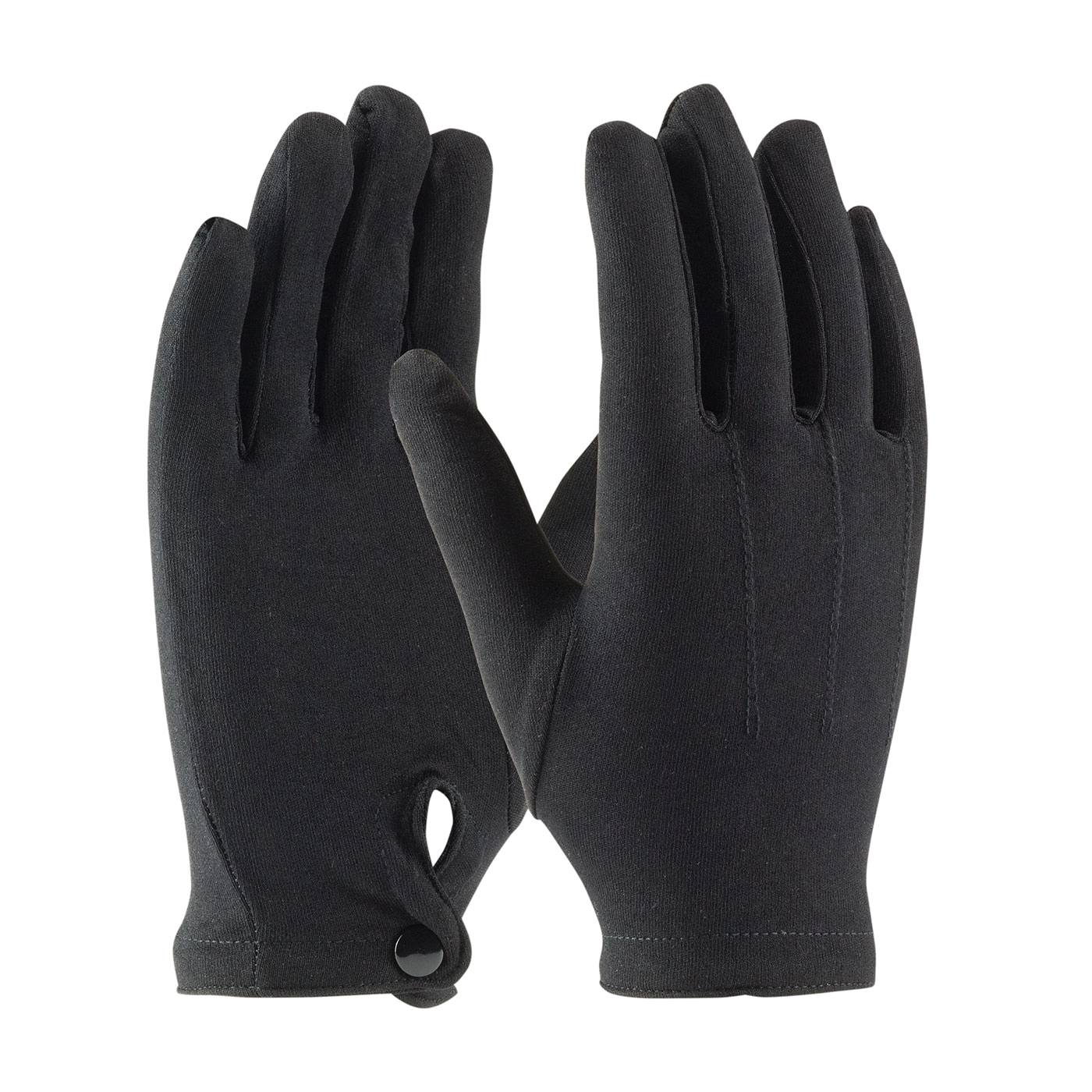 PIP® Cabaret™ 130-650BM Cabaret™ Men's Dress Gloves With Raised Stitching on Back, Nylon, Black, Unlined Lining, 24.7 in L, Resists: Abrasion and Cut