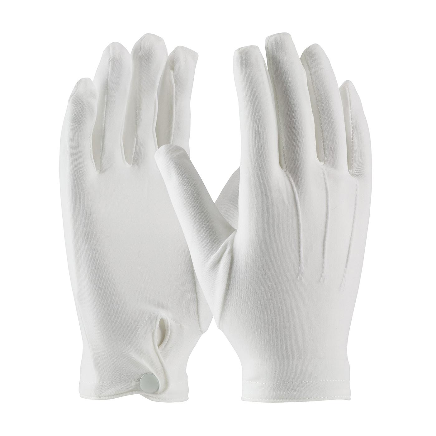 PIP® Cabaret™ 130-650WL Cabaret™ Ladies Dress Gloves With Raised Stitching on Back, Nylon, White, Unlined Lining, Resists: Abrasion and Cut