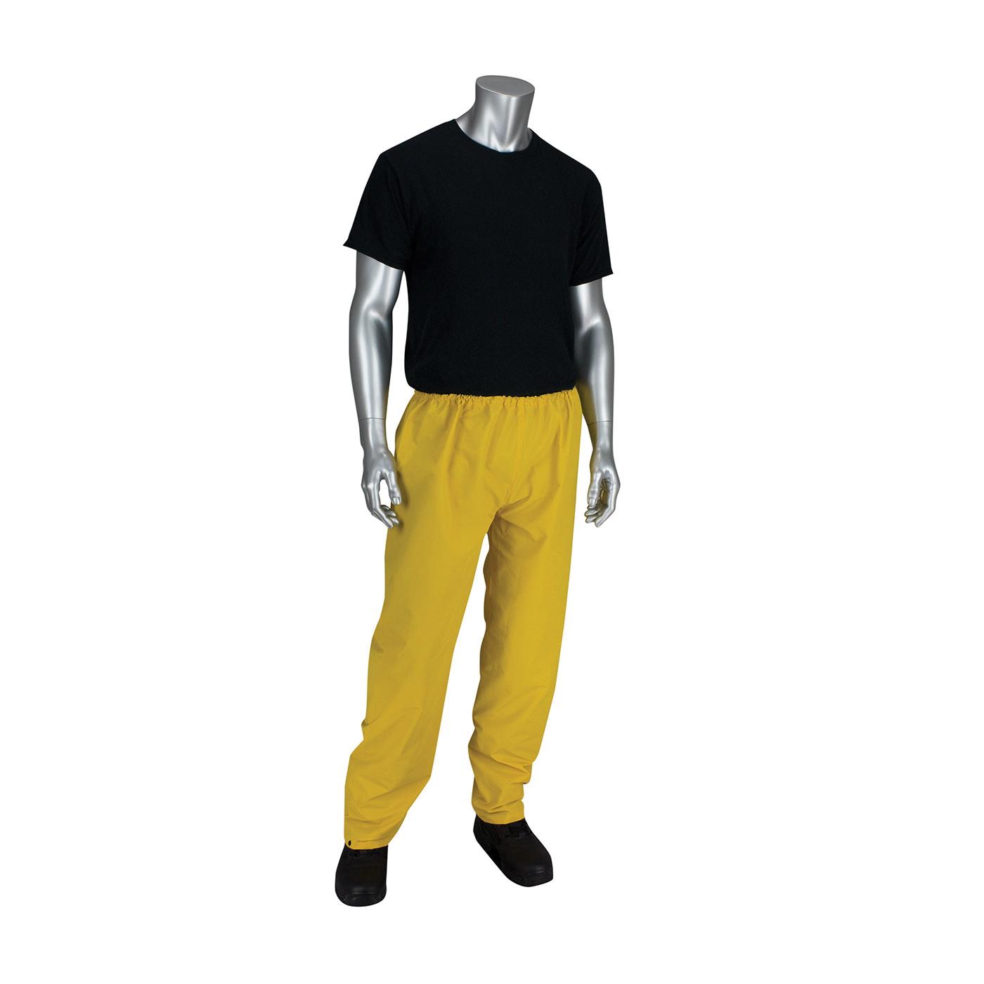 PIP® FALCON™ Base35™ 201-350P/2X Premium, 52 in Waist, 33 in L Inseam, Yellow, Polyester/PVC