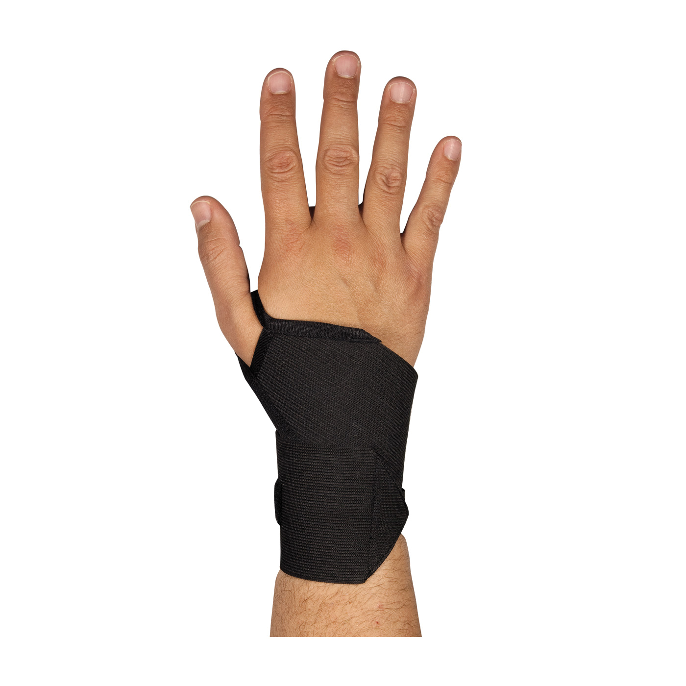 PIP® 290-9011BLK Ambidextrous With Thumb Loop, Universal, Hook and Loop Closure, Elastic Strap, Black