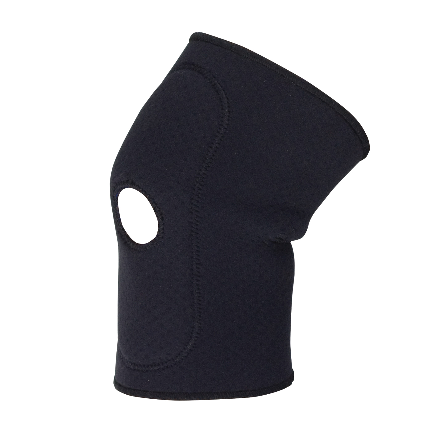 PIP® 290-9020L Ambidextrous Knee Sleeve, L, Terry Lined Neoprene/Nylon, Black