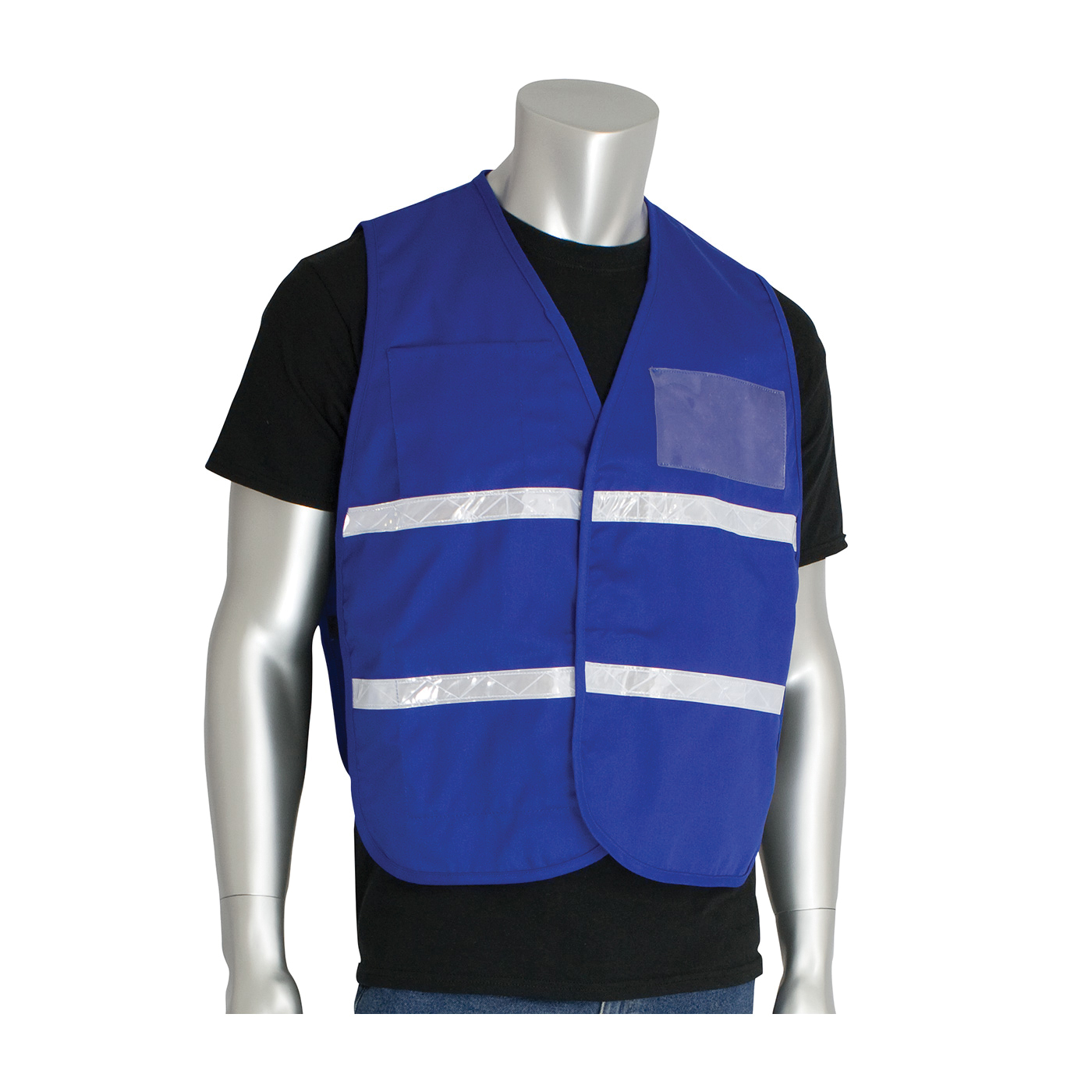 PIP® 300-1504/2X-3X Incident Command Vest, 2XL/3XL, Royal Blue, Polyester, 42.1 in Chest, Hook and Loop Closure