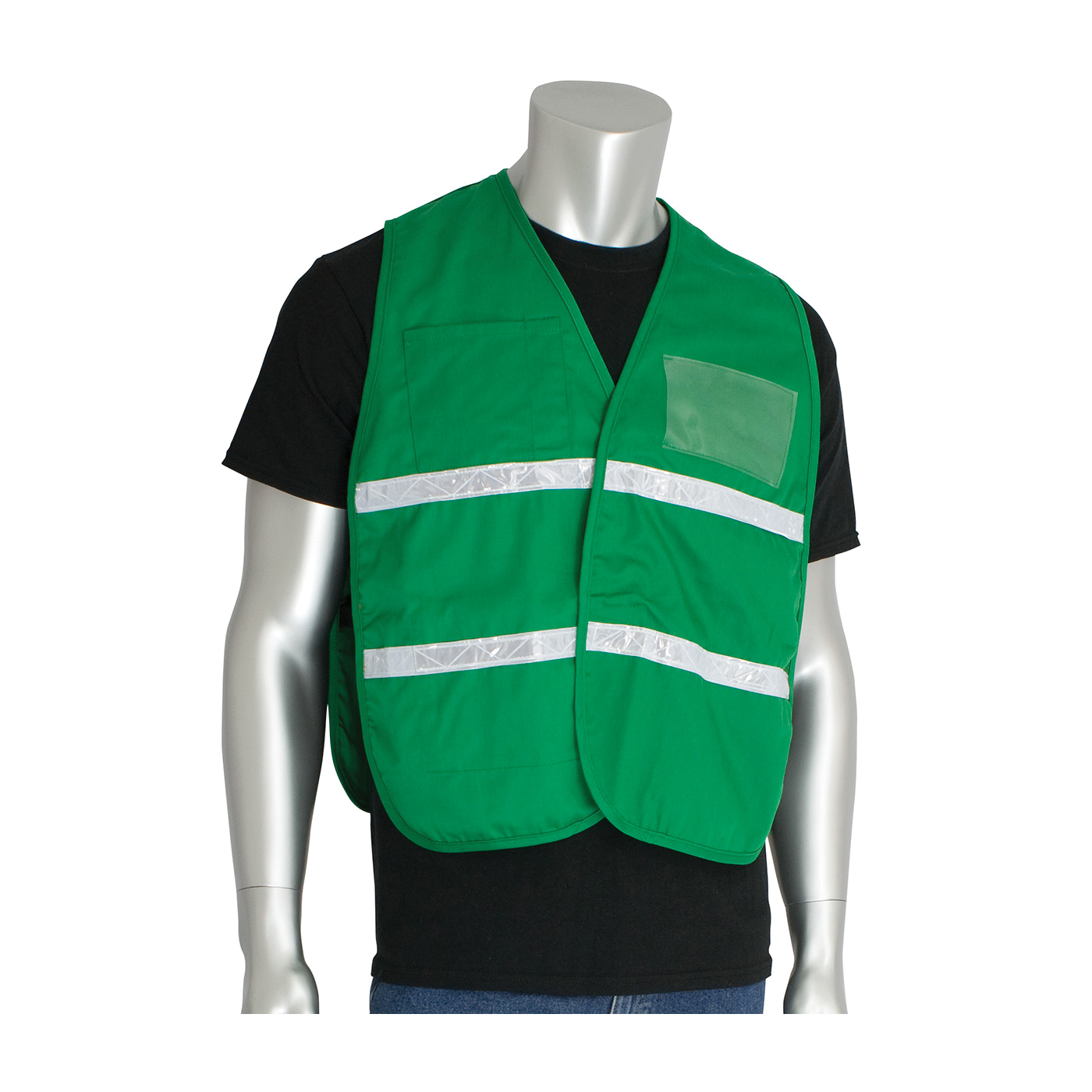 PIP® 300-1505/2X-3X Incident Command Vest, 2XL/3XL, Kelly Green, Polyester, 42.1 in Chest, Hook and Loop Closure