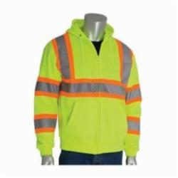 PIP® 323-HSSPLY-2X Two-Tone Sweatshirt, 2XL, Hi-Viz Lime Yellow, 29.1 in L, Polyester Fleece