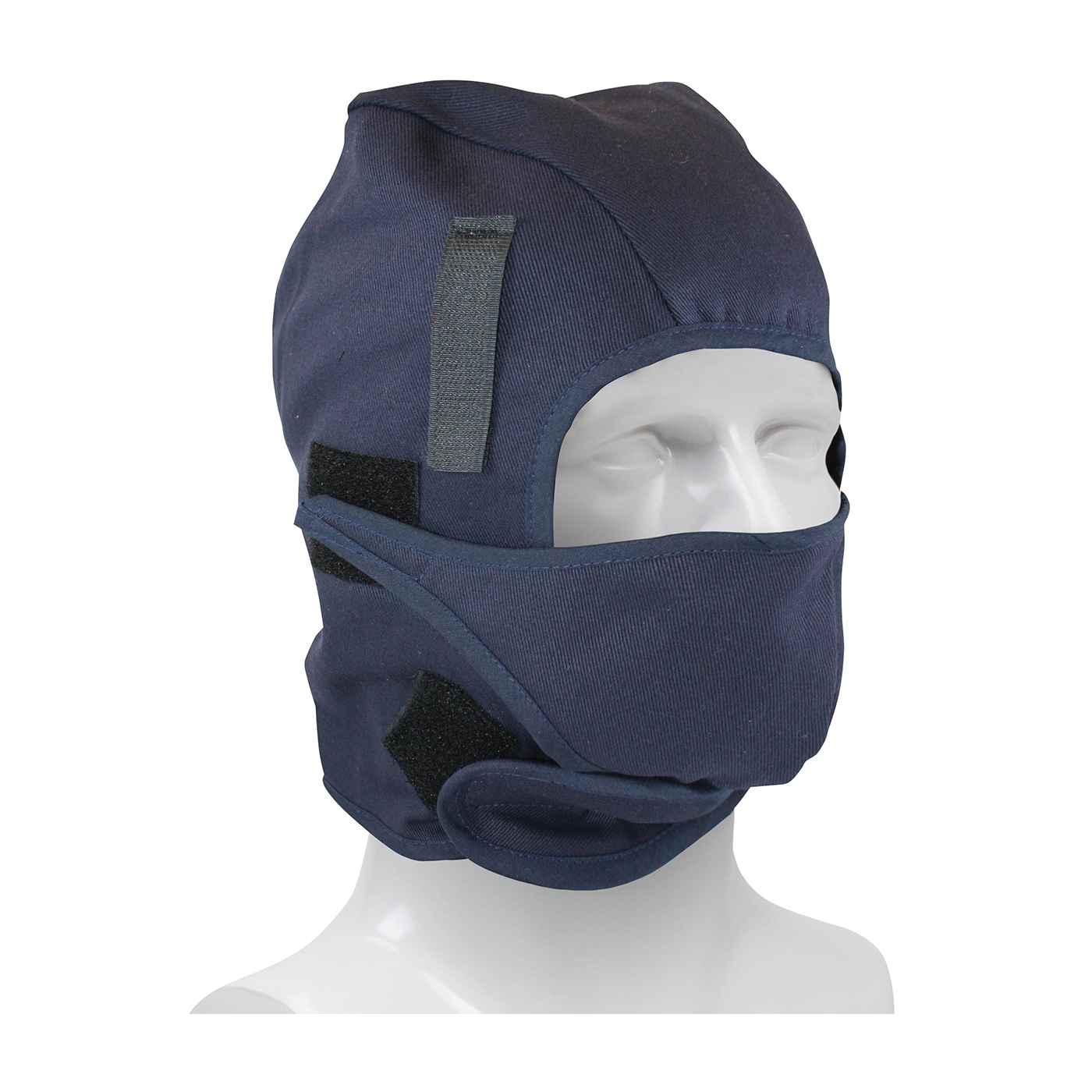 PIP® 364-ML2FMP 2-Layer Winter Liner With Mouthpiece and FR Treated Outer Shell, Universal, Navy Blue, Cotton Twill FR Main Fabric/Polyester Fleece Lining, Hook and Loop Closure