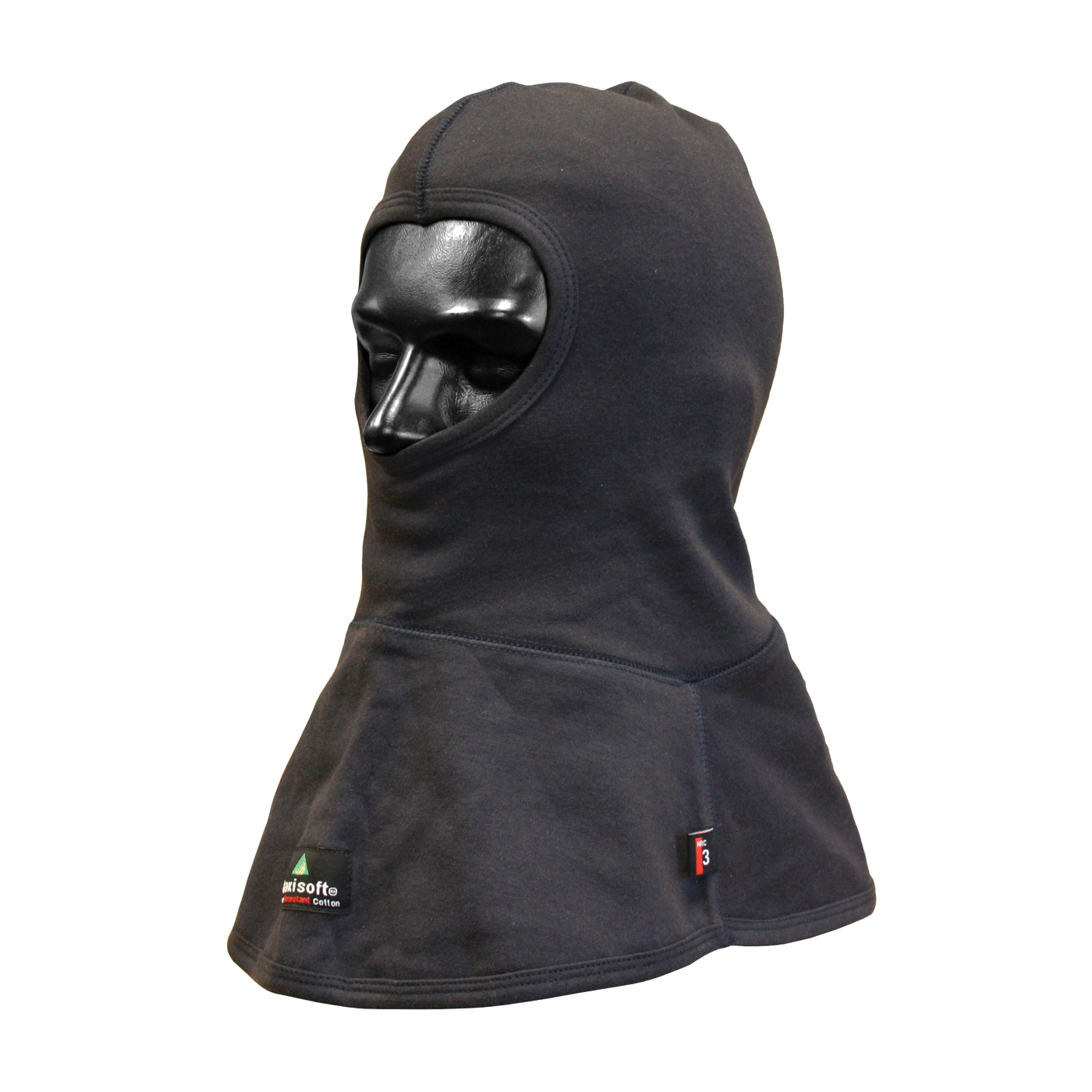 PIP® 385-HDFR-13-(NV) Double Layer Arc and Flame Resistant Balaclava, Universal, Navy Blue, 10-1/2 in L, 86% Cotton/14% Nylon, 13 oz Fabric, Full Face Closure