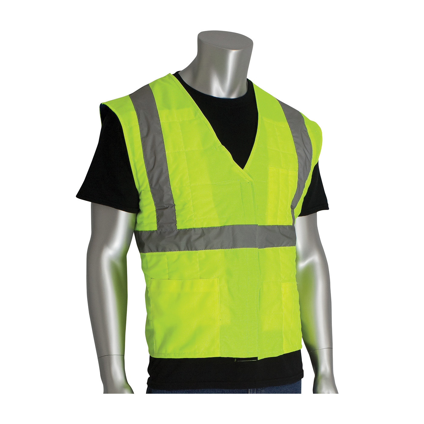 PIP® 390-EZ202-Y2/3X EZ-Cool®, 2XL/3XL, Hi-Viz Yellow, Polyester/Nylon, Soak In Cold Water Cooling, Hook and Loop/Zipper Closure