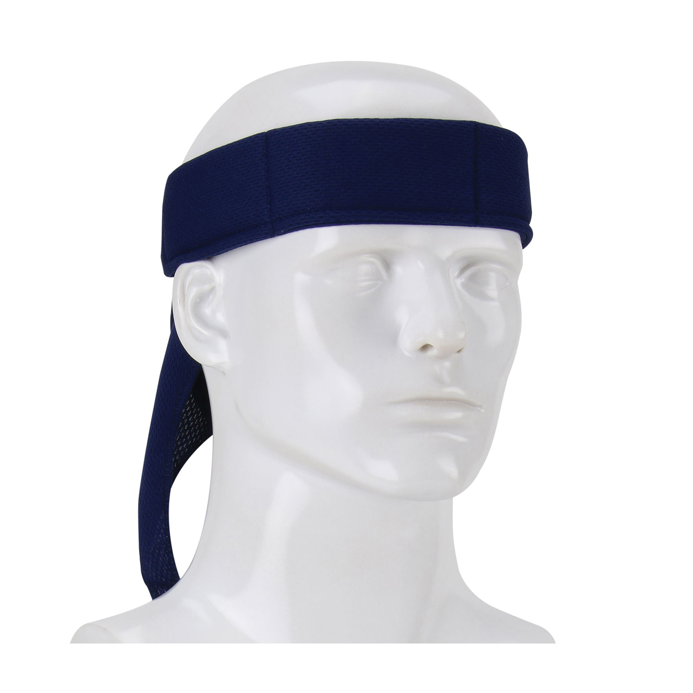PIP® EZ-Cool® 393-EZ201-NVY Flash Evaporative Cooling Bandana, Universal, Navy, 65% Polyester/35% Cotton Poplin, Breakaway Snap Closure