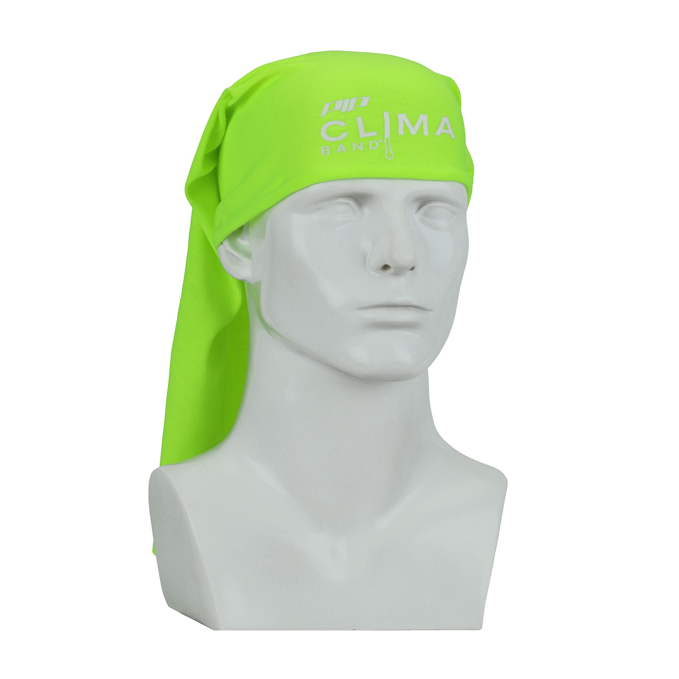 PIP® Clima-Band™ 393-200-YEL Absorptive Multi-Functional Head and Neck Cover, Universal, Hi-Viz Yellow, Nylon/Polyester, Pullover Closure