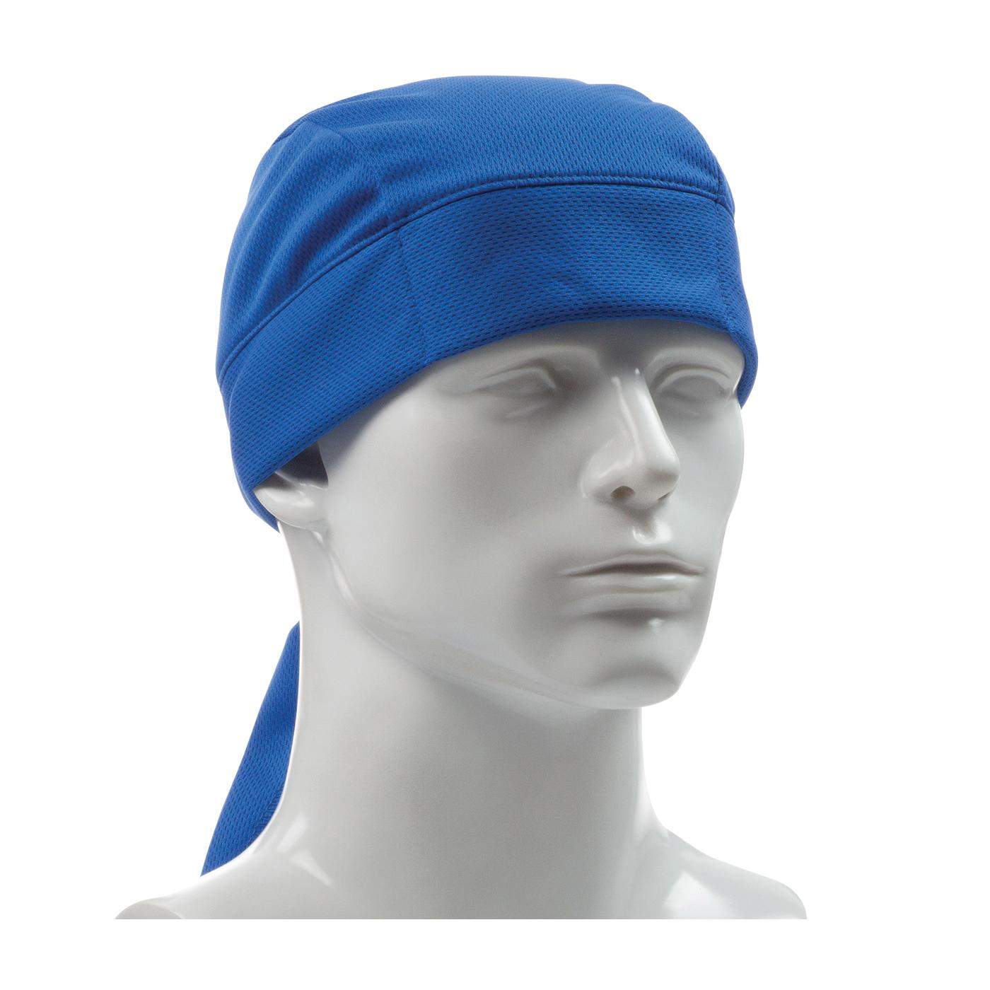 PIP® EZ-Cool® Plus 396-EZ205-BLU Evaporative Cooling Cooling Tie Hat, Universal, Blue, Polyester Mesh, Tie Closure