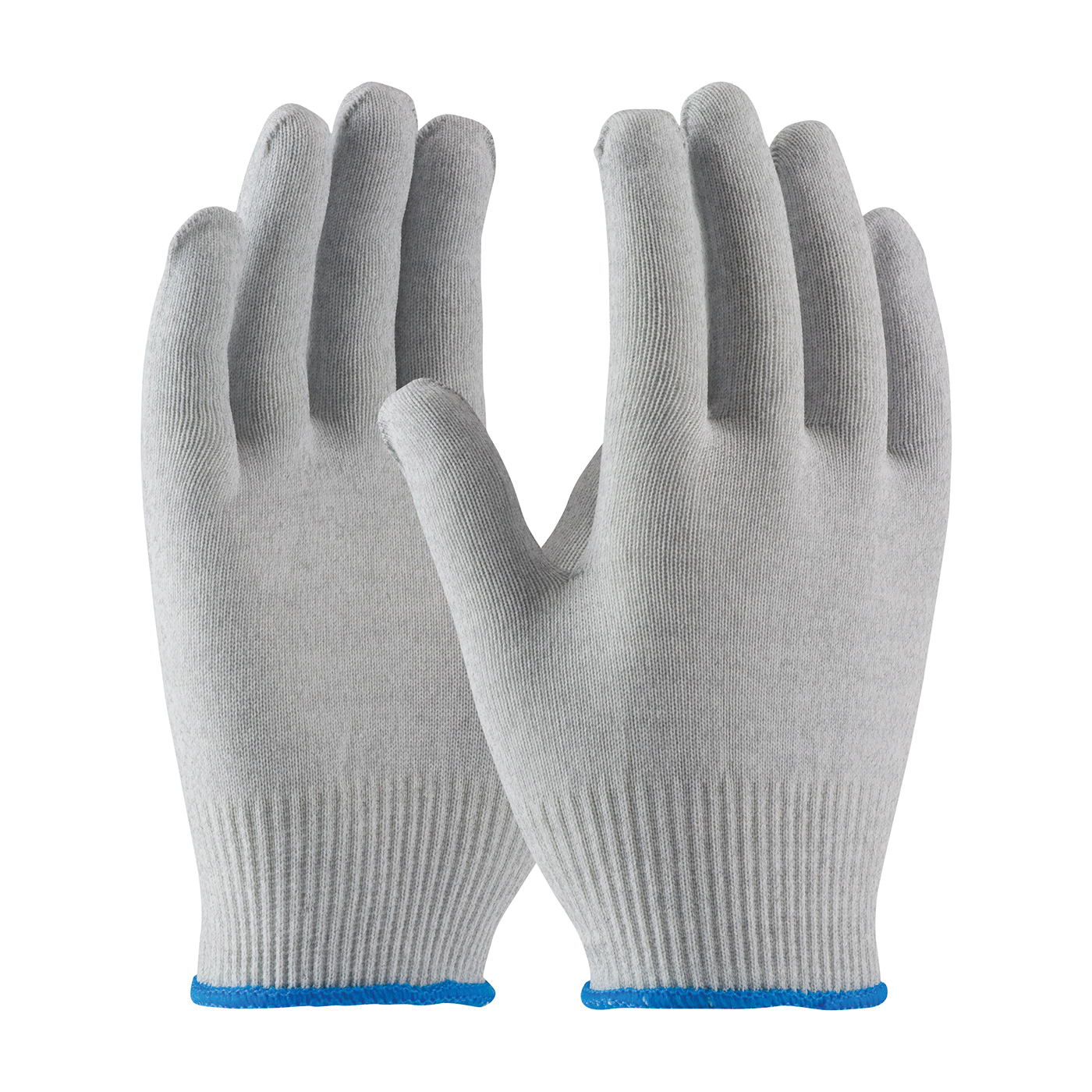 PIP® CleanTeam® 40-6410/XXL Electrostatic Dissipative Antistatic Gloves, Full Finger/Seamless Style, Carbon Fiber/Nylon/Synthetic, Gray/White, Continuous Knit Wrist Cuff, Uncoated Coating, 9.3 in L, Resists: Electrical Surface, ASTM D-257:2007, Paired Hand