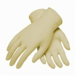 PIP® CleanTeam® 100-322400 Class 100 Single Use Clean Room Gloves, Latex, Natural, 9-1/2 in L, Powder Free, Fully Textured, 7 mil THK, Ambidextrous Hand